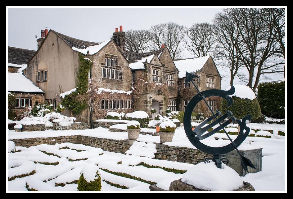 Holdsworth House Halifax Wedding Snow Snowy Scenes Image