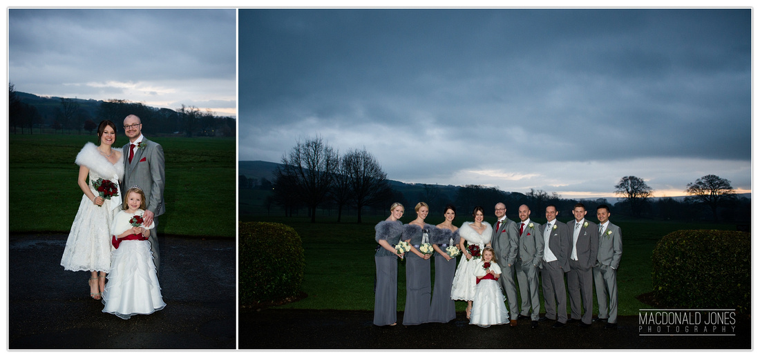 Devonshire Arms Bolton Abbey Wedding Photography North Yorkshire Winter Christmas Wedding