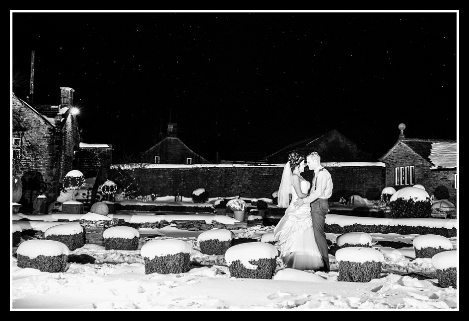 Holdsworth House Halifax Wedding Snow Snowy Starry Sky Night Scene Image