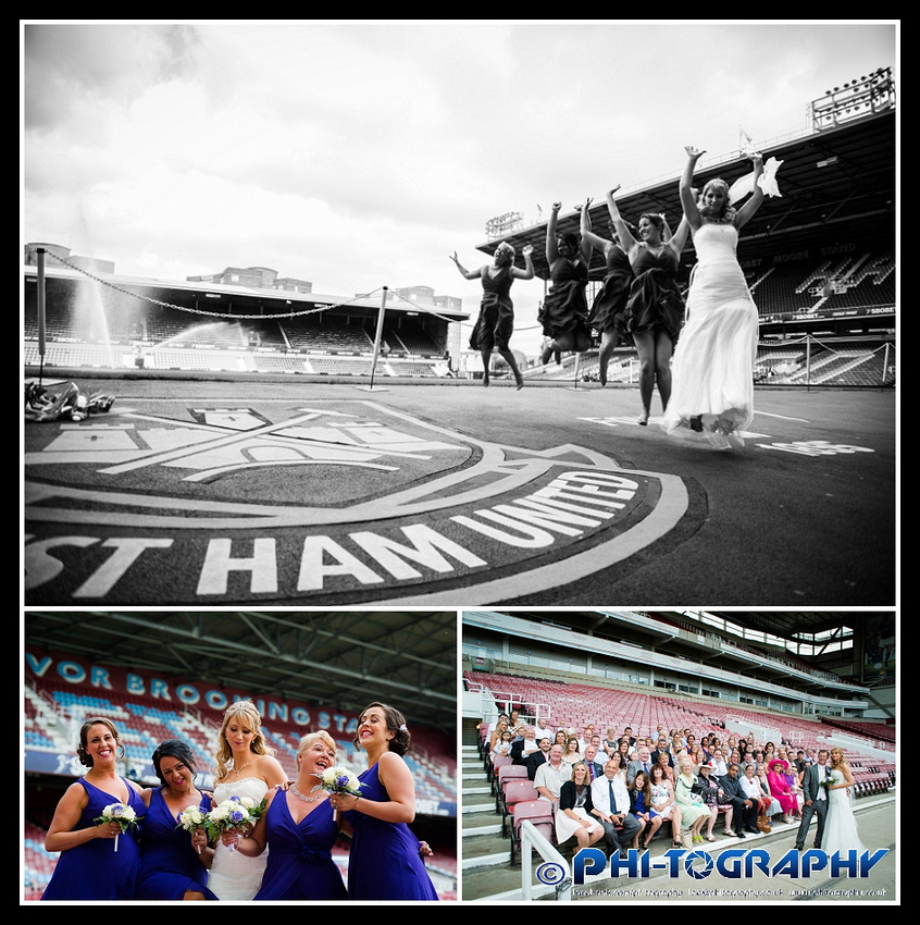 West Ham United Upton Park Stratford Wedding London Photographer
